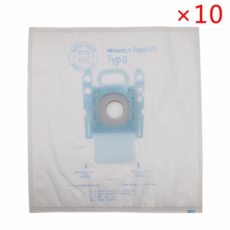 10 pack aspirador bolsa de polvo de reemplazo para bosch tipo de microfibra genuino g gxxl gxl megaair supertex bbz41fgxxl nonoriginal