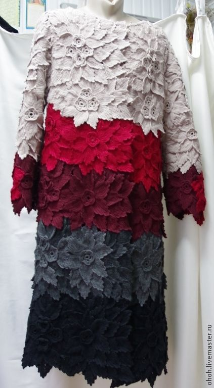 Irish lace crochet coat