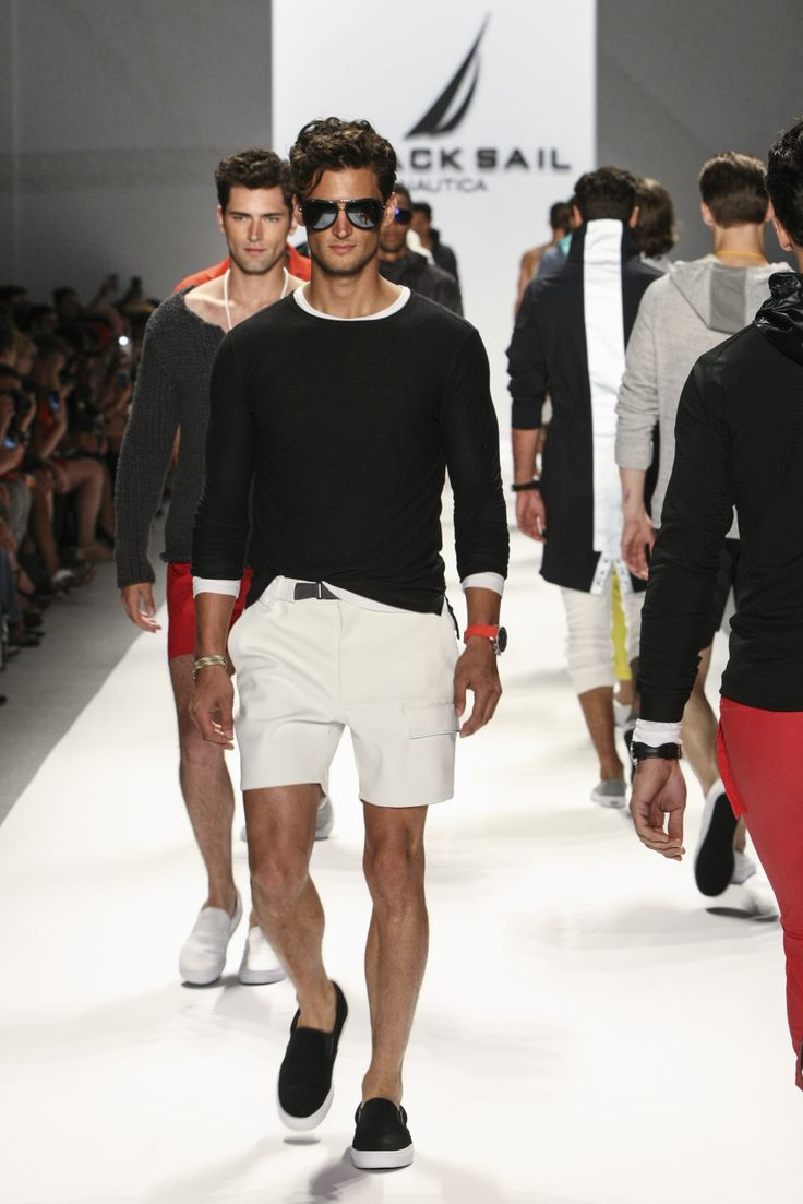 #Nautica Men's Spring 2014 Black Sail Collection #MBFW #NYFW