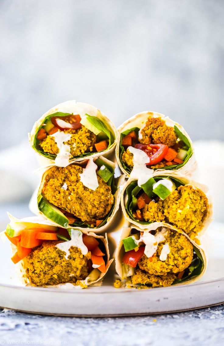 Blue apron falafel - Baked Falafels Vegan Tzatziki Dressing Wraps Salat Gluten