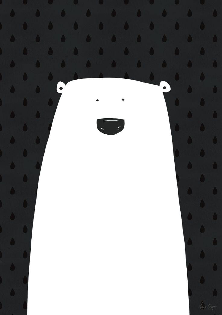 polar bear illustration ❥