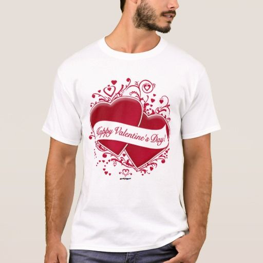 Happy Valentine's Day! Red Hearts T-Shirt