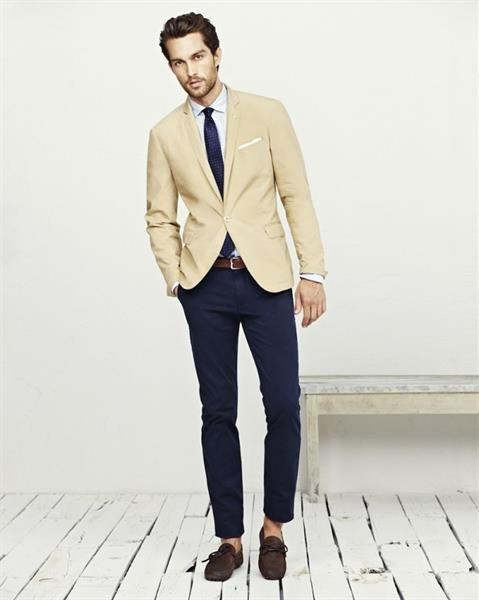 Купить бежевый мужской пиджак