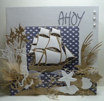 Anja Design, Marianne Design, Card -  on the sea
