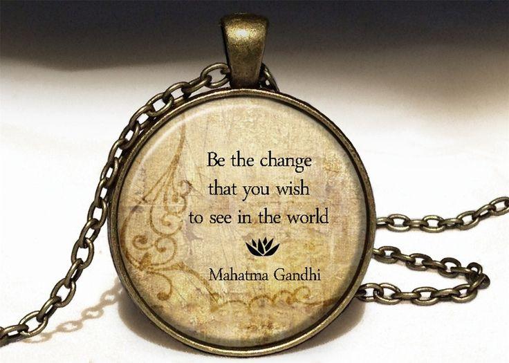 Quote Mahatma Gandhi, Quote Pendant, 0228PB from EgginEgg by DaWanda.com