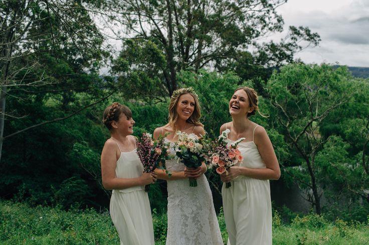 Shawn & Ellie Wedding  Kangaroo Valley, NSW, AU  Bride & Bridesmaids