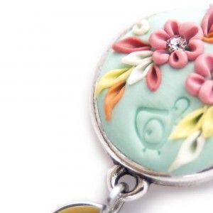 Flowers Pendant Earrings Detail