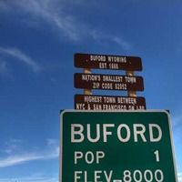 Buford, WY - Smallest Town In America