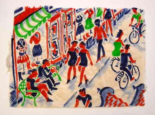Painting, shoppingstreet