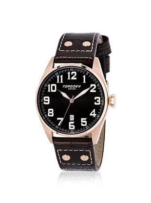 Torgoen Men's T28105 Black Stainless Steel Watch