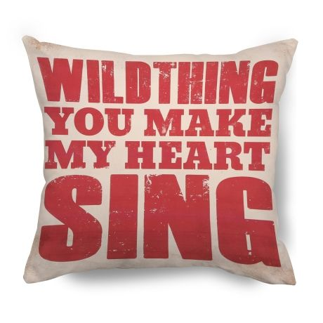 Wild Thing Cushion – 45 x 45cm from Typo Lyrical Prints - R249 (Save 0%)