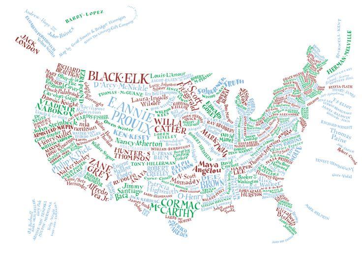 mappa letteraria degli Stati Uniti museo degli scrittori americani
