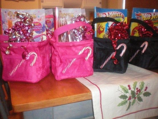 Christmas Gift Idea using a Thirty One Carry it All Caddy and filling with candy, books, hot cocoa, mug, art supplies, toys...the list goes on and on!