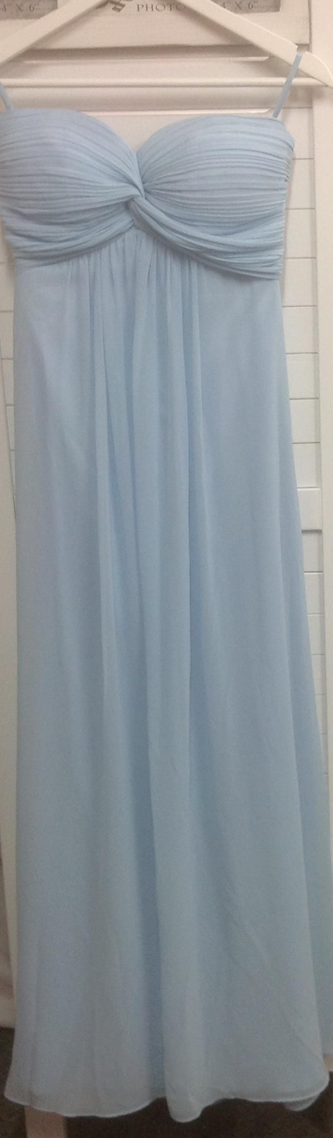 BM085 full length, chiffon, strapless bridemaid / cocktail dress. $199.00 to buy and $129.00 to hire (for a new gown)
