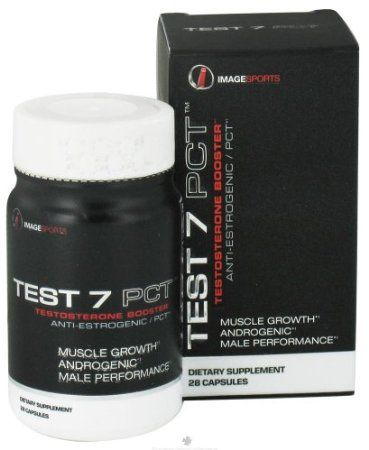 Image Sports - Test 7 PCT Testosterone Booster - 28 Capsules Image Sports Test & PCT Testosterone Booster is a highly specific, dual-acting Testosterone Booster, with estrogenic regulating properties. These two unique and qualified characteristics make Test 7 PCT a remarkable, and obvious choice for supporting post cycle therapy (PCT). This is the ultimate in high-end androgenic-testosterone enhancing supplements, for that clean, hard, dry appearing physique.