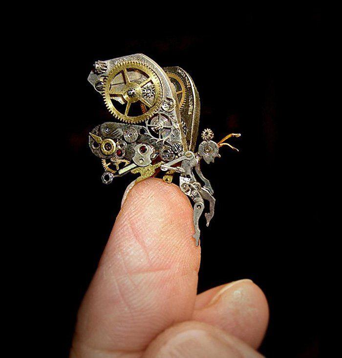 Artista transforma sucata de metal em fantásticas esculturas em miniatura