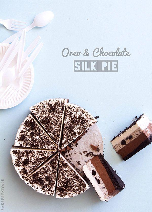 Oreo and Chocolate Silk Pie via Bakers Royale
