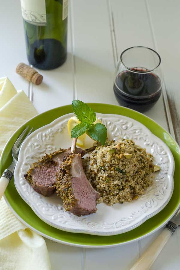 Linda's Birthday: Pistachio Mint Crusted Lamb | Food and drink are ...