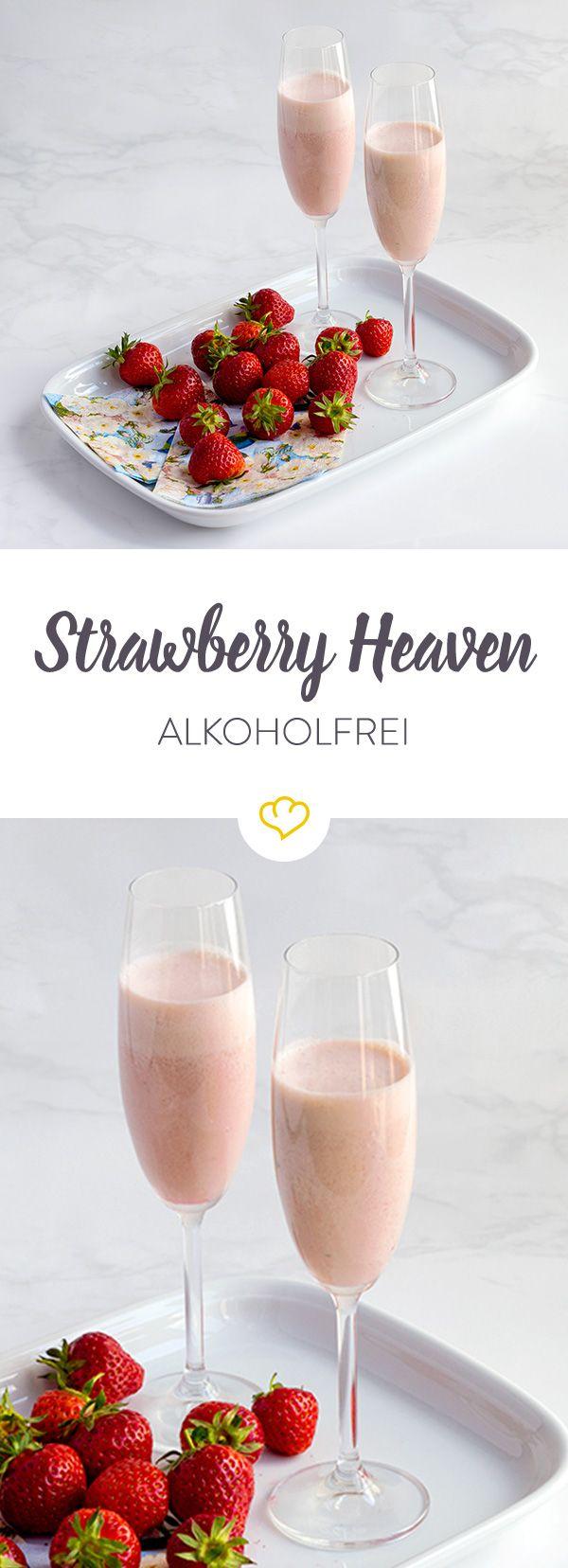 Das Rezept für den cremigen Strawberry Heaven mit Erdbeeren und Vanilleeis und viele weitere alkoholfreie Cocktail Rezepte finden Sie im Springlane Magazin.