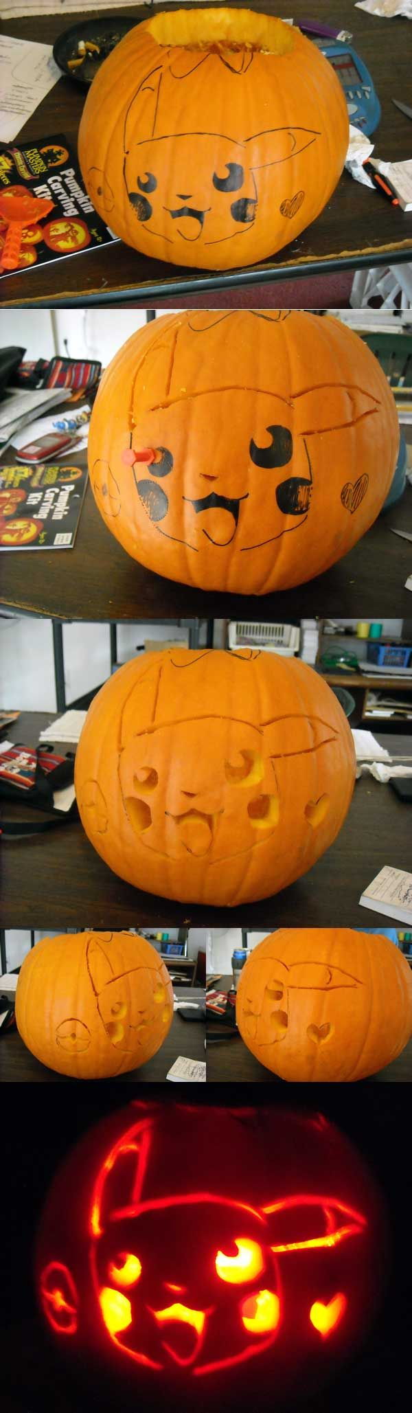 Looks like we'll be carving a Pokemon Pumpkin this year.