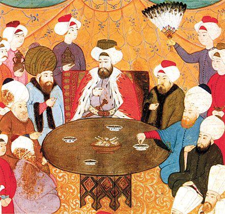 Bu bir gelenek.  Yer Sofrasından Masaya Osmanlı Kültüründe Alafranga Sofra Düzeni