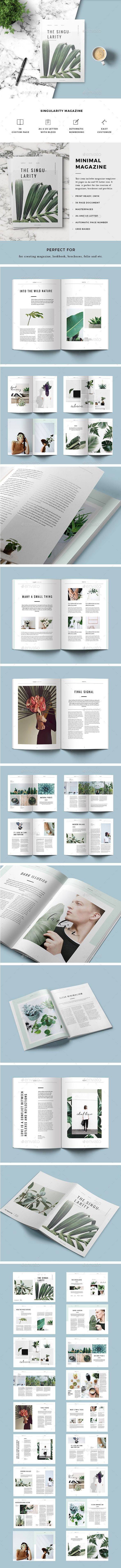 Magazine - #Magazines #Print #Templates Download here: https://graphicriver.net/item/magazine/19327819?ref=alena994