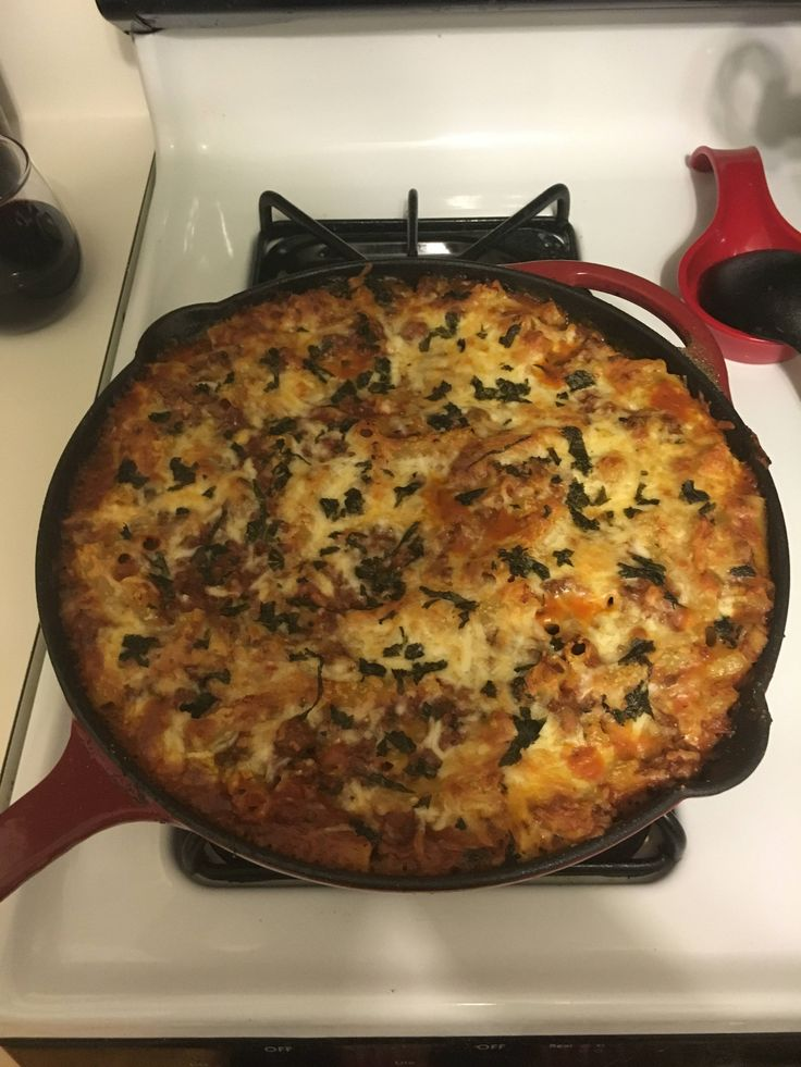 Cast iron skillet, Baked ziti and Skillets on Pinterest