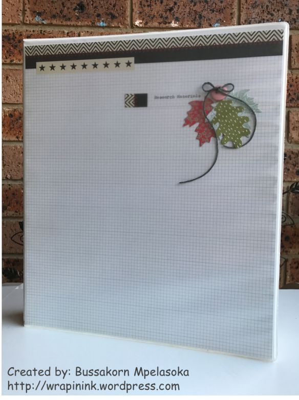 Handmade stationary, Decorating a file folder, Lawn Fawn Stichted Leaves Dies