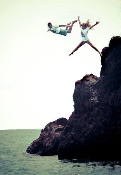 JUMPING OF A CLIFF.