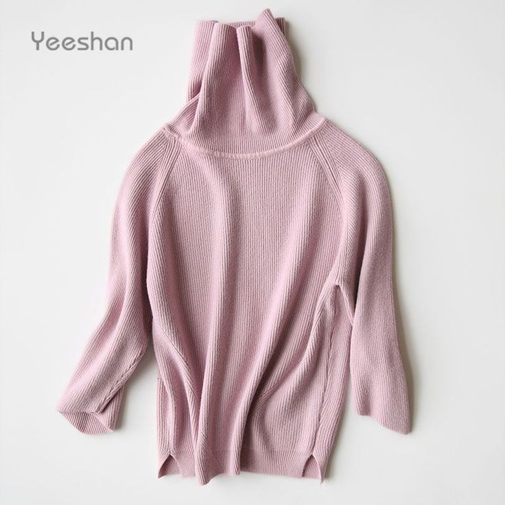 Yeeshan 90s Stand Collar Sweater Undershirt Woolen Knit Vintage Sweaters Women's Sweaters and Pullovers Brand Autumn Coats aliexpress.com
