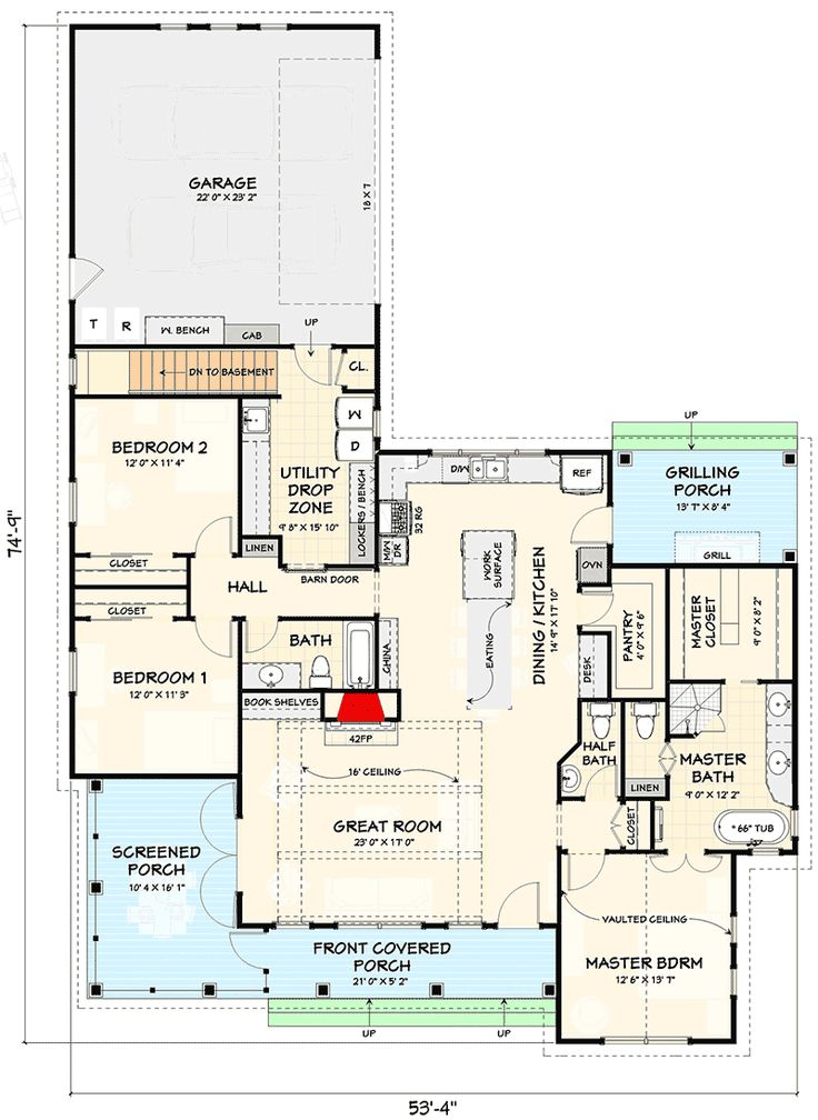 Plan 28933jj Modern Farmhouse Plan With Attached Garage In Back Farmhouse Plans Modern Farmhouse Plans Basement House Plans Open concept house plans with garage in back