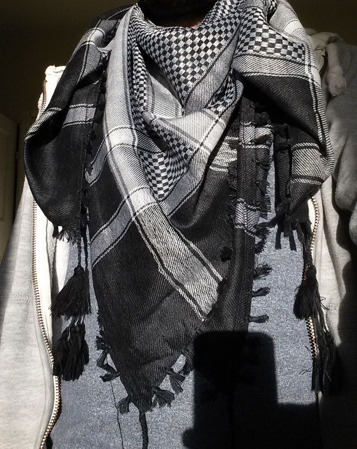 Authentic -Desert Arab - Checkered grey, Shemagh, Keffiyeh Scarf - Woven - Large in Clothes, Shoes & Accessories, Men's Accessories, Scarves | eBay
