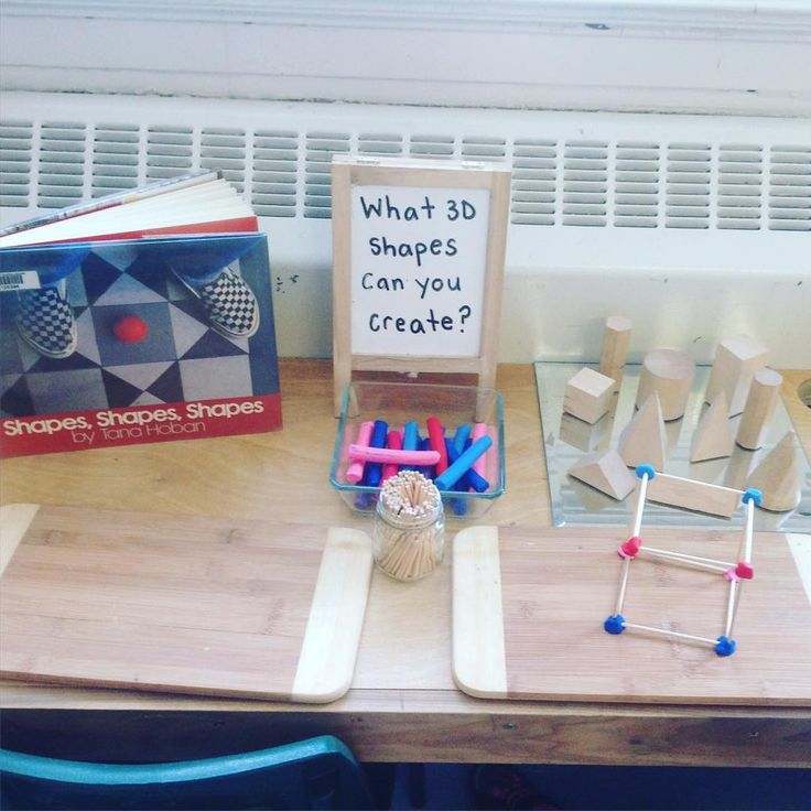 """""""A new provocation to extend our learning about 3D shapes! C. C. Did a great job creating a cube!"""""""