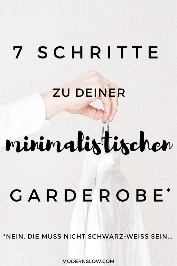 Erstelle Deine minimalistische Garderobe - und fühle Dich wohl mit Deiner Kleidung, jeden einzelnen Tag. | modernslow.com