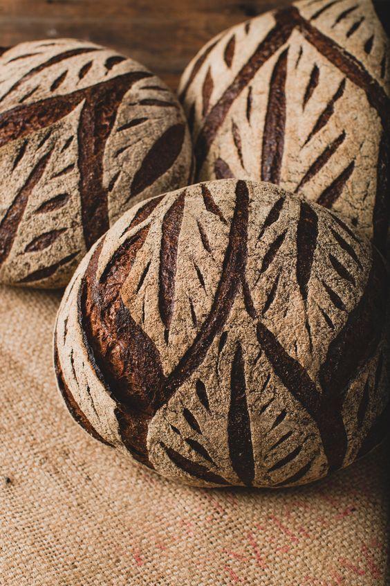 Artisan bread baking.