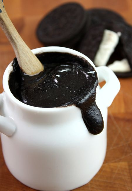 Oreo Cookie Butter | The Kitchen Paper. Two Ingredients & too delicious to resist! #Oreo #CoconutOil #Dessert