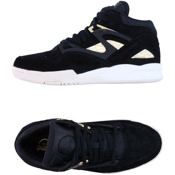 Reebok High-tops & Sneakers (435 BRL) ❤ liked on Polyvore featuring shoes, sneakers, black, black sneakers, leather high tops, black high top shoes, black leather high tops and black leather shoes