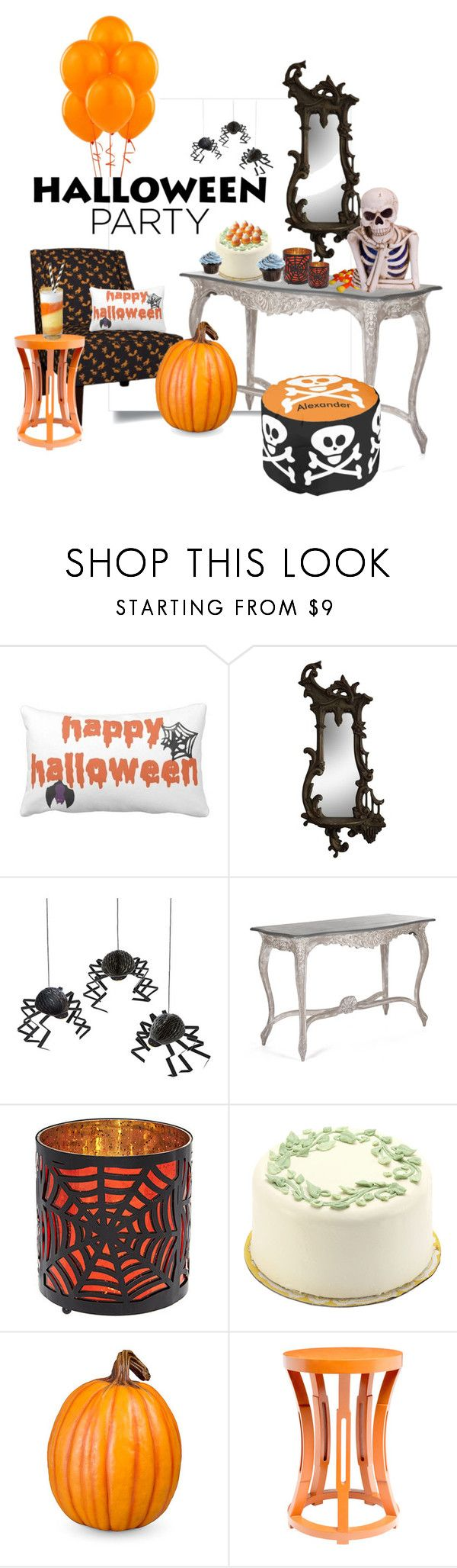 """""""Halloween Party"""" by lesrubadesigns ❤ liked on Polyvore featuring interior, interiors, interior design, home, home decor, interior decorating, Meri Meri, Sweet Lady Jane, Improvements and Bungalow 5"""