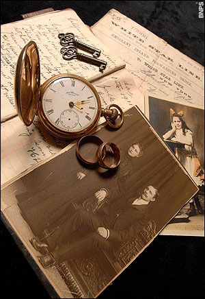 For 94 years, survivor Lillian Asplund had refused to speak about the tragedy which claimed the lives of her father and three brothers. Only after her death, aged 99, have her family uncovered details of the terrible events.   The pocket watch stopped at the exact moment the Titanic sank. This is only one of the four remaining tickets for the voyage. These items of Lillian Asplund were found in a shoe box.