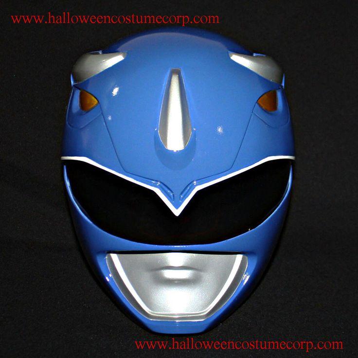 1:1 Wearable Halloween Costume Cosplay Mask Movie Prop Mighty Morphin Blue Power Ranger Helmet PR14 we