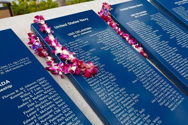 Image of the USS Arizona Memorial in Pearl Habour, Oahu.