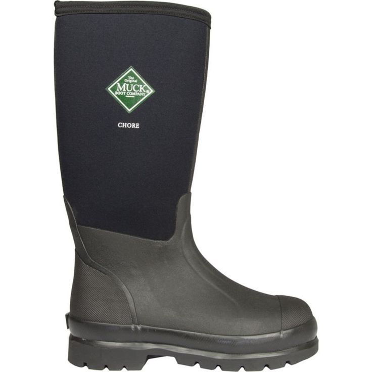 Muck Boot Men's Chore Waterproof Steel Toe Work Boots, Size: 12, Black