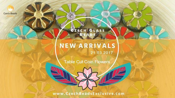 CZECH GLASS BEADS: Picasso Table Cut Coin Flower Beads - New Arrivals 21.03.2017