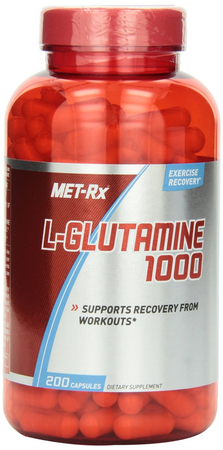METRx LGlutamine 1000 Mg Diet Supplement Capsules, 200