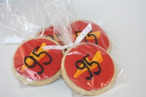 Lightning McQueen cookies for Disney Cars or Nascar party favors