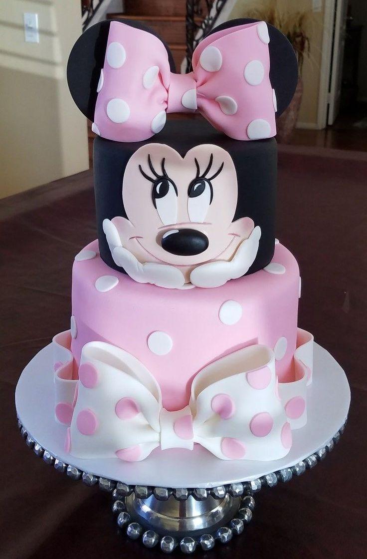 Magnificent 25 Brilliant Image Of Minnie Birthday Cake Con Imagenes Tarta Funny Birthday Cards Online Alyptdamsfinfo