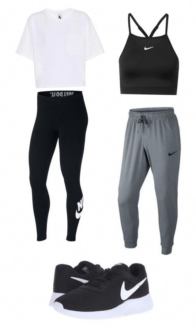 Nike workout outfits by gracielazarco on Polyvore featuring NIKE #WorkoutClothin... 1