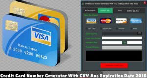 Credit Card Number Generator With cvv And Expiration Date 2016