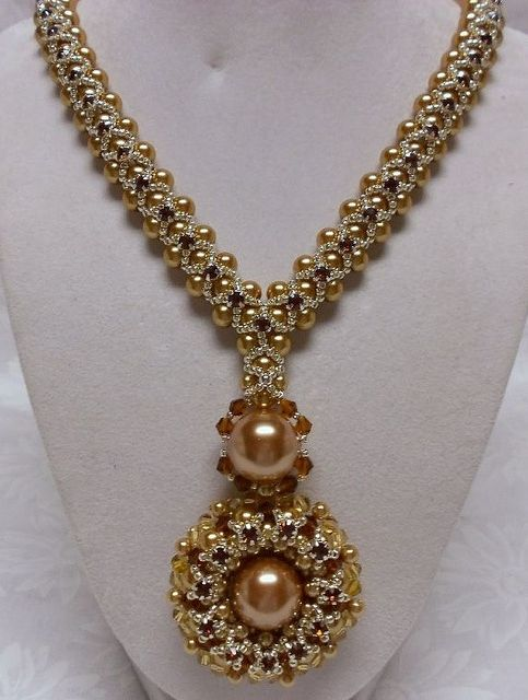 """Inspirations: Beautiful Beadwork Creations """"Wedding Jewelry Sets"""" by Gina Moody featured today in Bead-Patterns.com Newsletter!"""