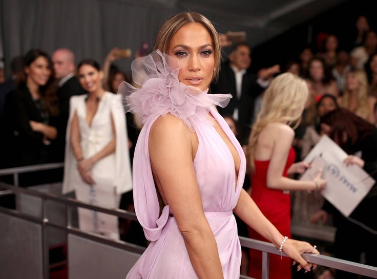 Jennifer Lopez from 2017 Grammys Red Carpet Candid Moments  Serve it up, J. Lo!